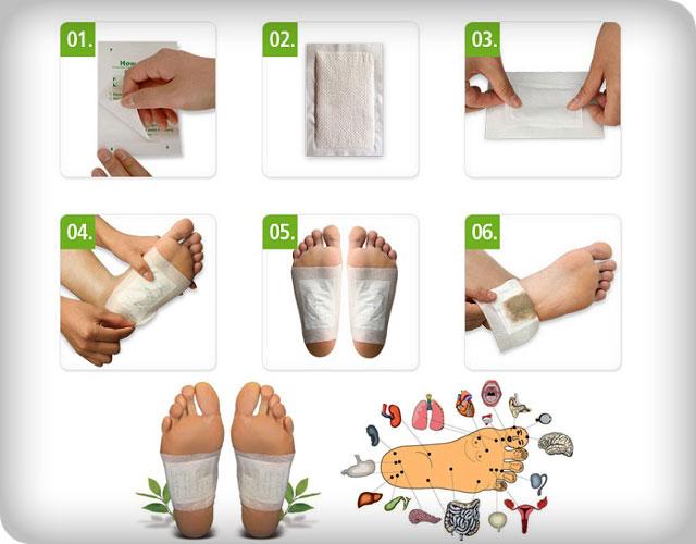 Пластыри для стоп Detox Foot Pads